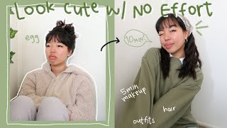how to look cute in 10 min so ur friends don't hate u for being late