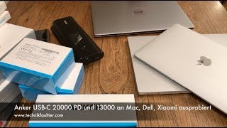 Anker USB-C 20000 PD und 13000 an Mac, Dell, Xiaomi ausprobiert - dooclip.me