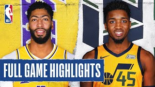 LAKERS at JAZZ | FULL GAME HIGHLIGHTS | August 3, 2020