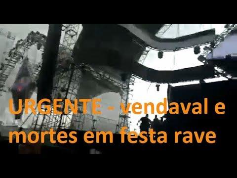 VENDAVAL CAUSA QUEDA  DE  PALCO EM FESTA RAVE NO PARQUE ASSIS BRASIL, DJ KALEB FALECEU