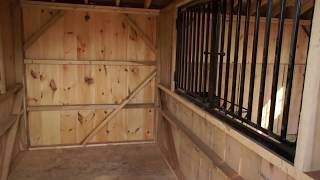 12x26 Two Stall Horse Barn W/Tack Room (2010)