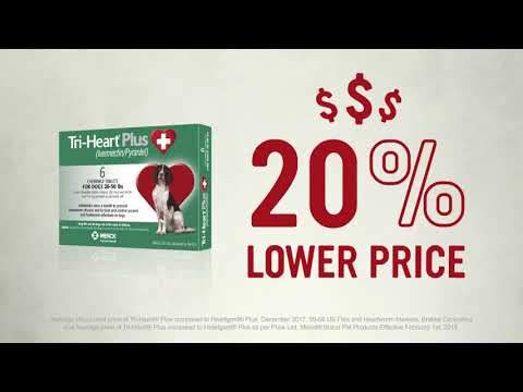 Tri-Heart Plus for Dogs Up to 25 lbs (6 Chew Tabs) Video