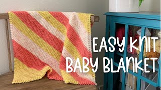 Easy Baby Blanket Knitting Pattern for Beginners | Step-by-Step Tutorial