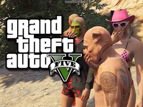 GTA 5 Online Skits - Cops and Robbers! #4 - Breaking Bad! (GTA V Funny Skits)