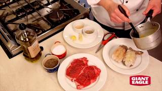 How to Prepare a Surf and Turf Romantic Dinner for Two - Recipe | Giant Eagle