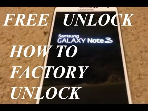 How To Factory Unlock FREE Samsung Galaxy Note 3 Att Tmobile And Other Cerriers 2014 Mp3