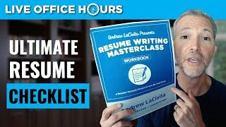 The Ultimate Resume Checklist: Live Office Hours With Andrew LaCivita