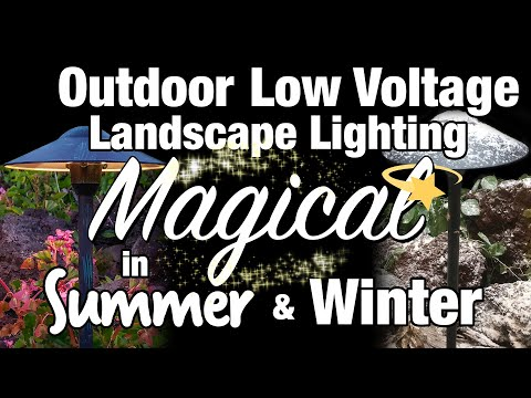 LED Low Voltage Outdoor Landscape Lighting - Magical in Summer & Winter