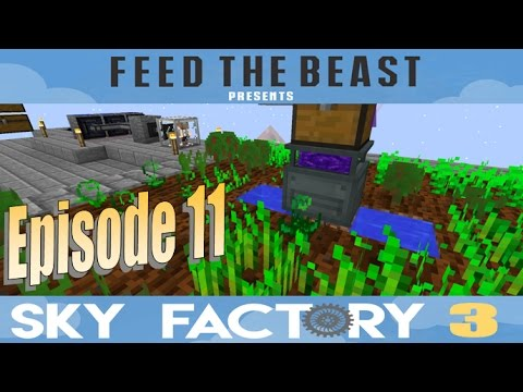 Sky Factory 3 Episode 8 How To Start Mystical Agriculture - смотреть