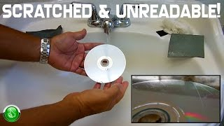 How To PROPERLY Repair Scratched UNREADABLE CD's & DVD's(Game Discs)