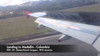 Arriving by Fly from Bogota to Medellin