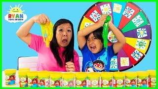3 Color Slime Challenge Mystery Wheel!!!!
