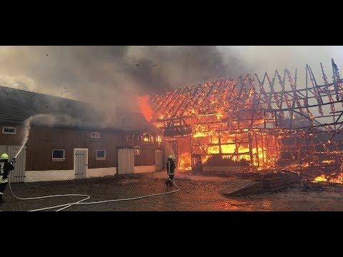 Scheunenbrand in Burkau [05.12.2017]