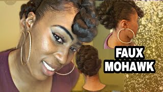 Mohawk :How To Do A Faux .Braided Mohawk For Black Women Hairstyle