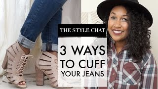 HOW TO CUFF YOUR JEANS FOR ANKLE BOOTS | STYLE CHAT FRIDAY