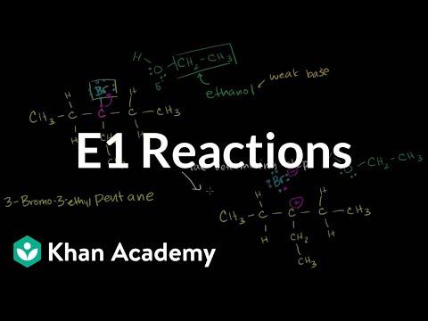 E1 reactions (video)   Elimination reactions   Khan Academy