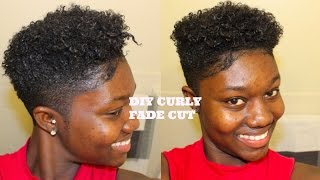 HOW TO GET CURLY HAIR WITH TEXTURIZER (MEN/WOMEN) CURLY FADE SHORTCUT DIY