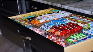 Let's Get Organized. Clean Out My Drawer And Transform It Into A Snack Drawer With me