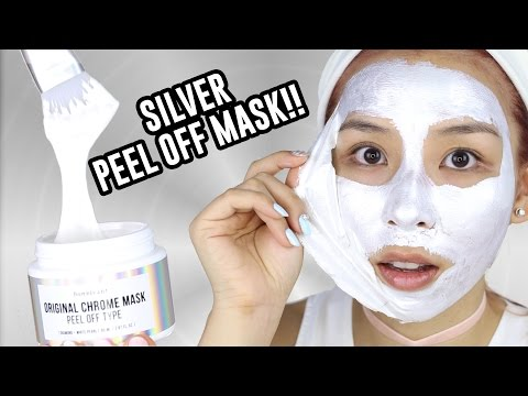 Silver Chrome Peel off Mask + GIVEAWAY!  -  TINA TRIES IT