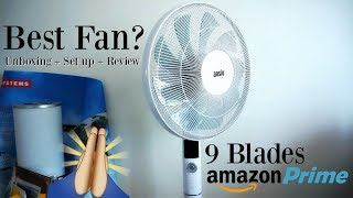 9 Blade Ansio Fan Unboxing / Set up / Impressions + Review (amazon prime sale)