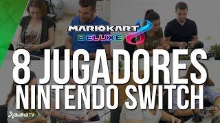 Modo inalámbrico: 4 Nintendo Switch, 8 personas y 'Mario Kart 8'