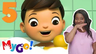 5 Little Ducks | ASL - American Sign Language | Baby Songs | Little Baby Bum