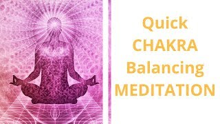 Opening and Balancing Your 7 Major Chakras - Quick Guided Meditation by Psychic Medium Jennifer Hall
