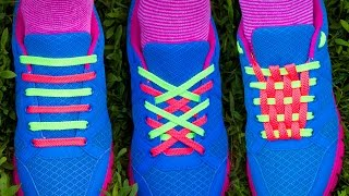 TOP 3 Ways Of How To Lace Shoes With 2 Laces For Each Shoe - Tutorial Of 3 Best Shoe Lacing Kinds