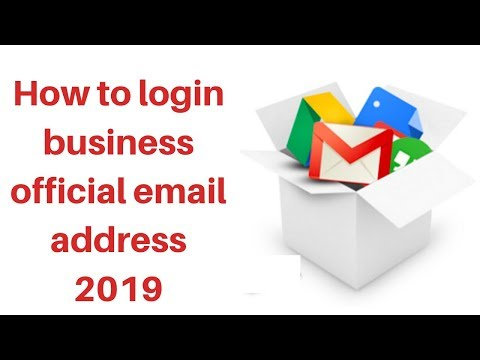 How to login business official email address 2019