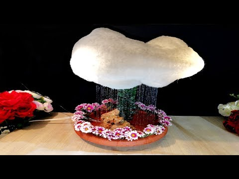 How to make Cloud with Rain and Thunder light / DIY