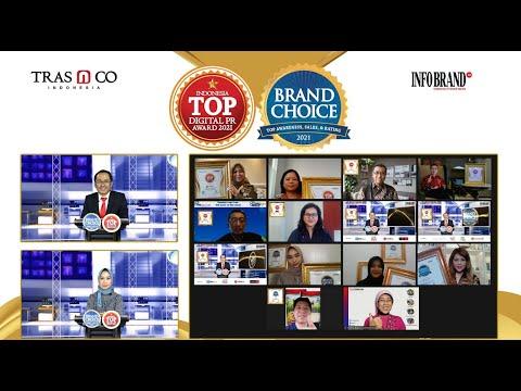 Virtual Award Ceremony Top Digital PR Award & Brand Choice Award 2021