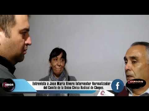 Entrevista a José María Rivero Integrante Normalizador Institucional del Comité de la Unión Cívica Radical de Chepes.