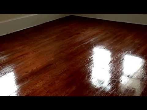 Staining and refinishing a hardwood floor in Margate, NJ 08402 by Extreme Floor Care in South Jersey