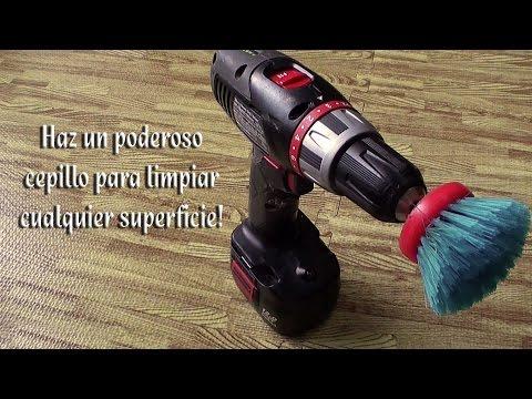 Como hacer un cepillo eléctrico para limpiar cualquier superficie