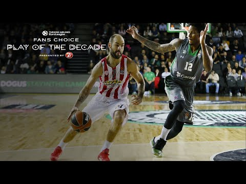 Round 2 winner, Fans Choice Play of the Decade: Vassilis Spanoulis