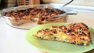 Рецепт турецкого слоеного пирога с брынзой и петрушкой.