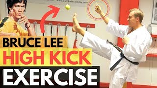 HOW TO KICK HIGH | Bruce Lee Kicking Exercise — Jesse Enkamp