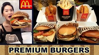 MCDONALD'S PREMIUM BURGERS (Eating Show - Mukbang) Peggie Eats S02E20 - Video Youtube