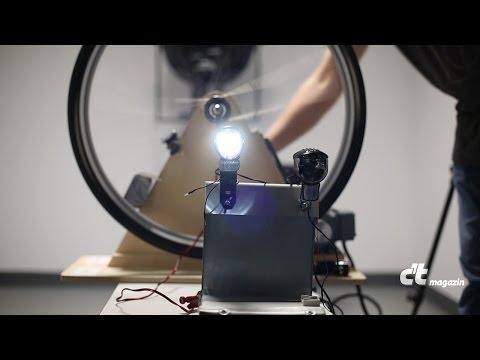 USB-Lader in der LED-Fahrradlampe