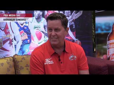[Inquirer]  PBA Media Day: Barangay Ginebra coach Tim Cone