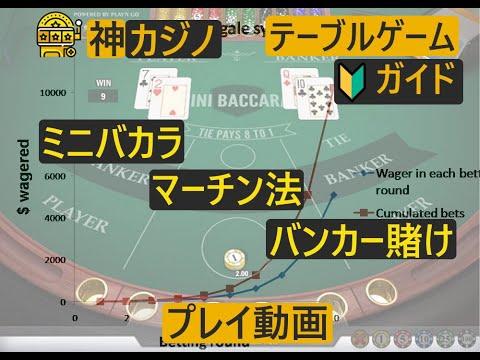 マーチンゲルの検証!神カジノスタッフが実際にバカラをプレイしてマーチンゲル法を試した!