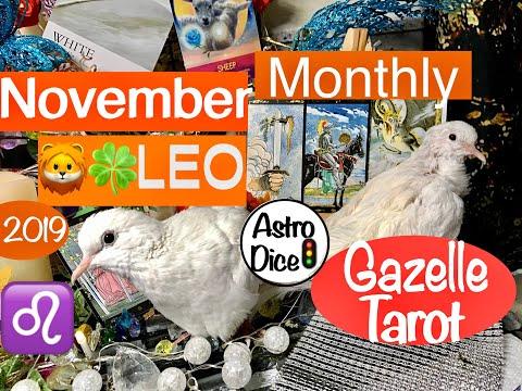 Leo Monthly November 2019 🦁🍀Lucky You Roaring With Charisma♌️ #tarot #leo #horoscope