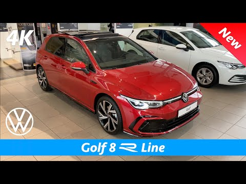 Volkswagen Golf 8 R Line 2021 - FIRST Look in 4K | Exterior - Interior (Kings Red Metallic)