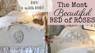 Make the Most Beautiful Bed! New IOD Rose Mould