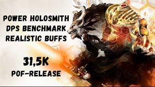 Guild Wars 2: [LN] Power Holosmith DPS Benchmark - Realistic Buffs (10 Condis) - 31,5k | PoF-Release