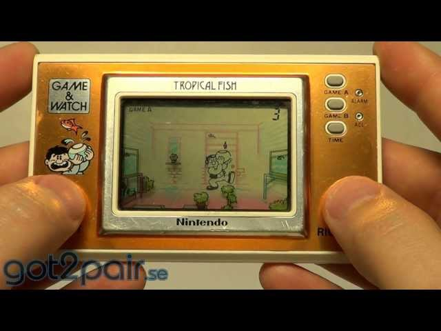 TROPICAL FISH TF-104 - Nintendo Game & Watch