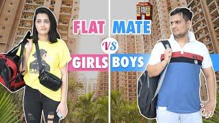 Flatmate Girl vs Boy    The ROHIT SHARMA   @Riya Mavi