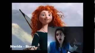 Disney female characters sing LET IT GO