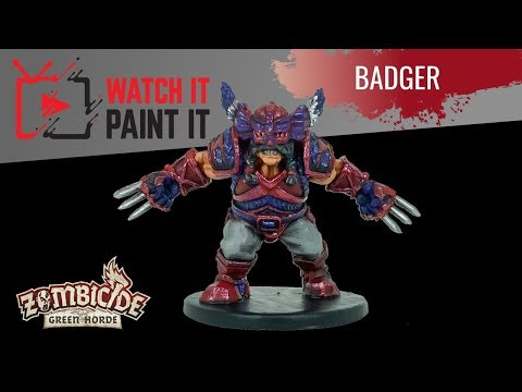 Zombicide Green Horde - Painting Badger