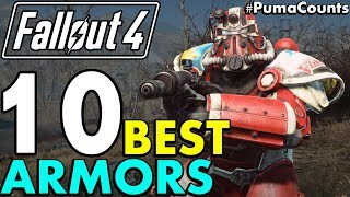 Top 10 Best Power Armor, Armors, Apparel and other Outfits in Fallout 4 (Including DLC) #PumaCounts